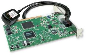 This card plugs into a PCI slot in your computer and into a wall outlet to create a power-line network.