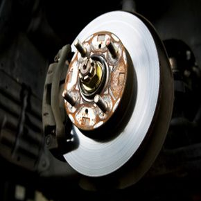 A close-up of an automobile brake.