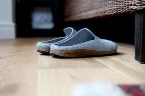 What if these felt slippers were made with power felt? Could they charge your iPhone?