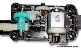 Inside the power-door-lock actuator