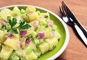 Potato salad sans mayonnaise makes for a much healthier alternative.