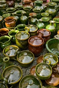 Pottery can be formed into many different shapes and colors -- which is what makes it art!