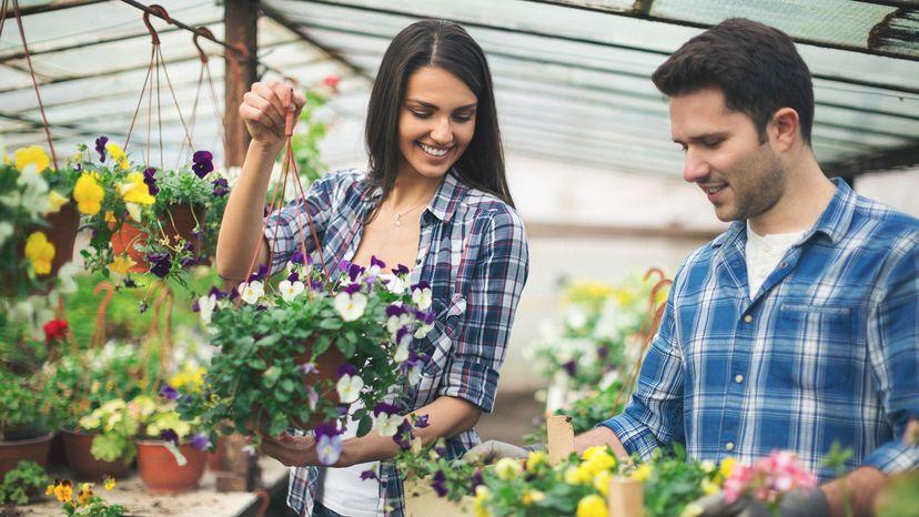 couple inside greenhouse