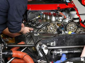 Engines that have a high compression ratio, like this race car engine, can benefit from high-octane fuel.