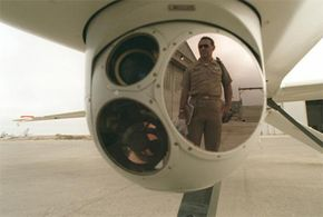 """The RQ-1 uses a set of nose cameras to """"see"""" on missions."""