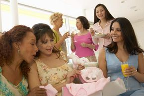 You'll be sure to hear a lot of pregnancy superstitions at a baby shower.