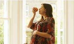 Pregnant women can have a different sense of smell and taste.