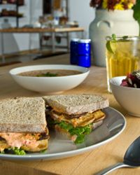 You won't miss the meat on this tofu club sandwich.