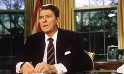 Ronald Reagan sometimes veered from his carefully written speeches with disastrous results.