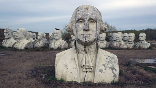 All the Presidents Busts Are Decaying in a Virginia Field