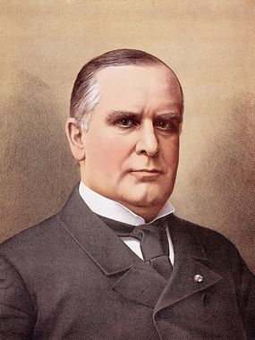 president william mckinley color portrait illustration