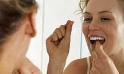 You don't have to floss all of your teeth -- just the ones you want to keep. It's better than brushing at removing plaque between your teeth, anyway.