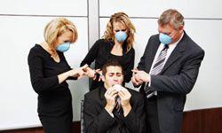Staying Healthy Image Gallery No one wants Coughy McSneeze-a-lot in the cubicle next to them. Get health tips with staying healthy pictures.