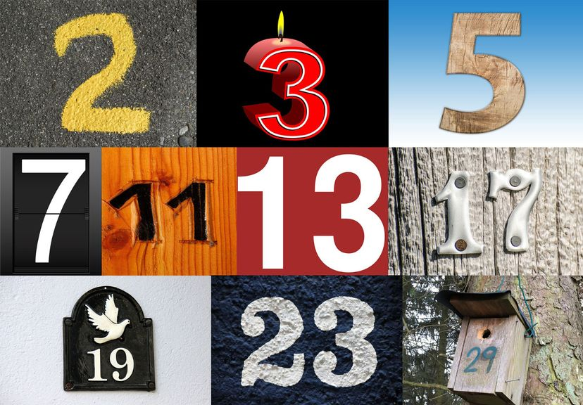 selection of prime numbers