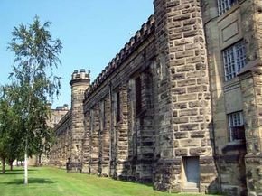 Burrall's prison project coordinated with several inmates inside this facility, the West Virginia State Penitentiary.