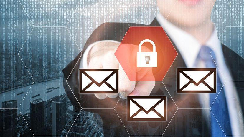 graphic email lock box
