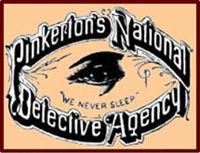 """The term """"private eye"""" comes from the Pinkerton Detective Agency logo"""