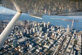 Why drive to work when you can fly in a fraction of the time? See more flight pictures.