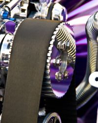 If your belt breaks while you're driving it can cause major damage to the engine.