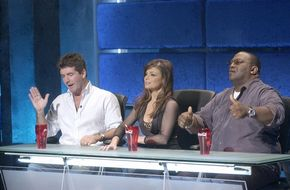 L-R: Judges Simon Cowell, Paula Abdul and Randy Jackson