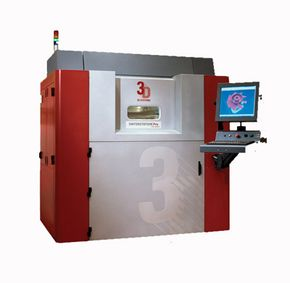 3-D Systems' Sinterstation Pro SLS System performs selective laser sintering, one of the additive manufacturing methods described below.