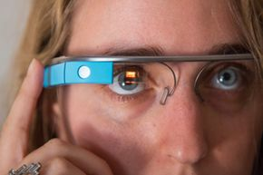 Google Glass is a wearable computer that responds to touch and voice commands. This is a prototype Explorer version.