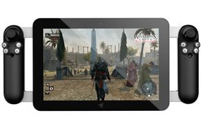 While the central element of Project Fiona looks very much like other tablets, the unit is designed to appeal to gamers.