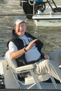 George H. W. Bush shows that he's one of theplain folks.