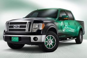 The Protean F 150 EV has no engine; however it does have four in-wheel electric motors that could produce more than 100 horsepower per motor (over 400 hp in total).