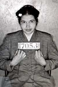Rosa Parks was arrested for refusing to give up her bus seat to a white passenger -- a simple but powerful act of civil disobedience.