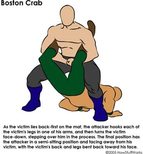 The Boston Crab and its variations are popular submission holds.