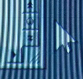 You can see a faint horizontal line just above the tip of the cursor