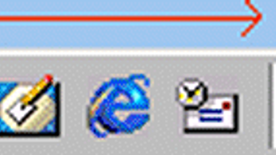 How do I add applications to the task bar in Windows 98?