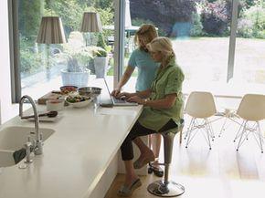 The clean look of quartz countertops is popular in modern designs.
