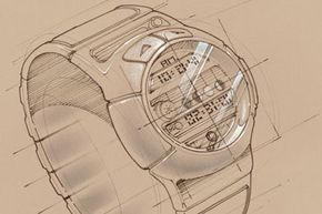 LCDs on watches are divided into seven- or 14-segment sections, which display those familiar numerals.