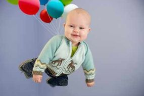 For a baby, you would need fewer than 4,000 balloons.