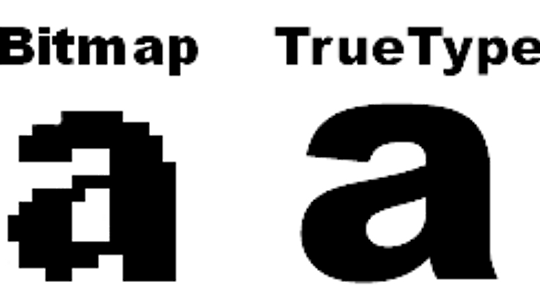 What are TrueType fonts?