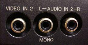 VCR Audio Input Jacks