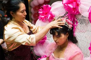 Quinceañera traditions trace back to the Aztecs.