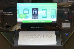 An EcoATM machine on display at a Virginia Mall.