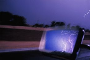 Your car is a fairly safe place to be in a thunderstorm, but not because of your tires.