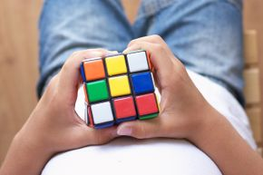 The iconic Rubik's Cube provides hours of entertainment – or frustration, depending on your outlook.