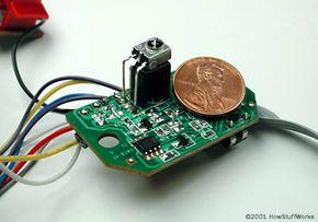 The robot's infrared sensor
