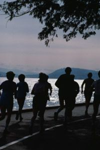 Running at dawn is easier with friends.