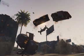 """The """"Grand Theft Auto"""" series offers plenty of opportunities to see ragdoll physics in action."""
