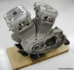 The engine from a Harley can be thought of as two cylinders from a radial engine.