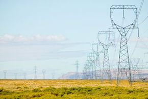You see high tension wires in the middle of nowhere for a good reason.