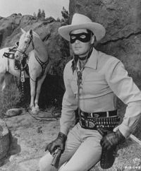 """The serial drama """"The Lone Ranger"""" became a TV show in 1949."""