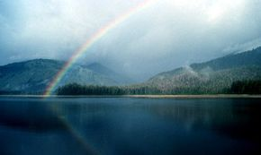 Have you ever wondered how the colors of a rainbow end up in seemingly perfect bands?