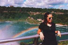 If you're wearing sunglasses with polarized lenses, a rainbow will disappear if you turn the glasses vertically.
